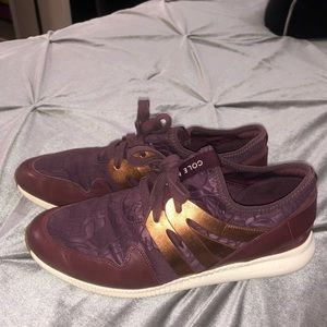 Cole Haan plum and gold sneaker